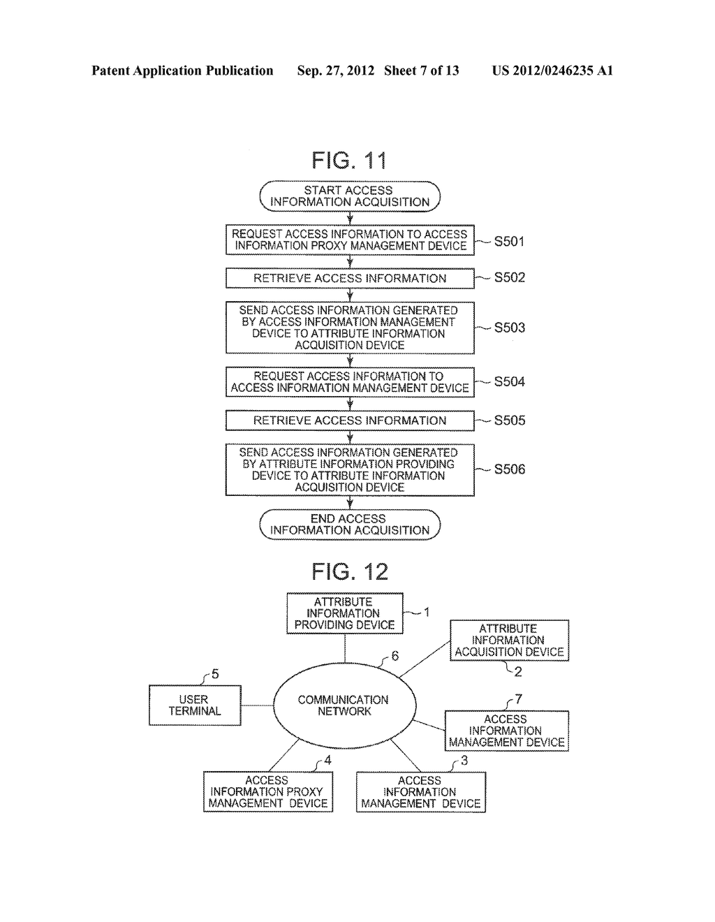 ATTRIBUTE INFORMATION SHARING PROVIDING SYSTEM, ACCESS INFORMATION     MANAGEMENT DEVICE, ACCESS INFORMATION PROXY MANAGEMENT DEVICE, METHOD AND     PROGRAM THEREFOR - diagram, schematic, and image 08