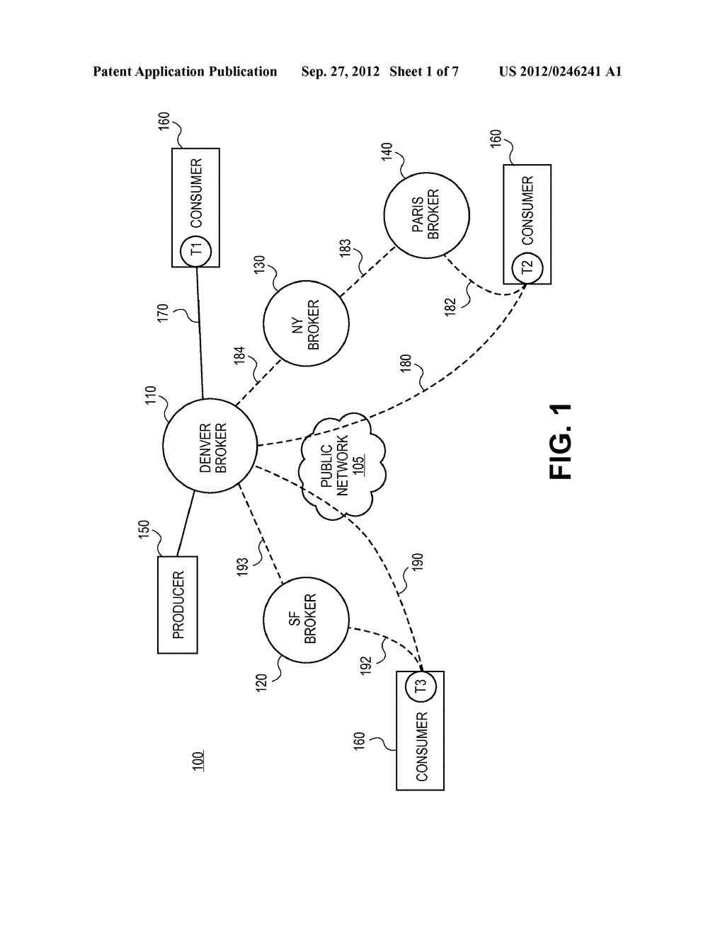 SYSTEMS AND METHODS FOR PROVIDING DISTRIBUTED DYNAMIC ROUTING USING A     LOGICAL BROKER - diagram, schematic, and image 02