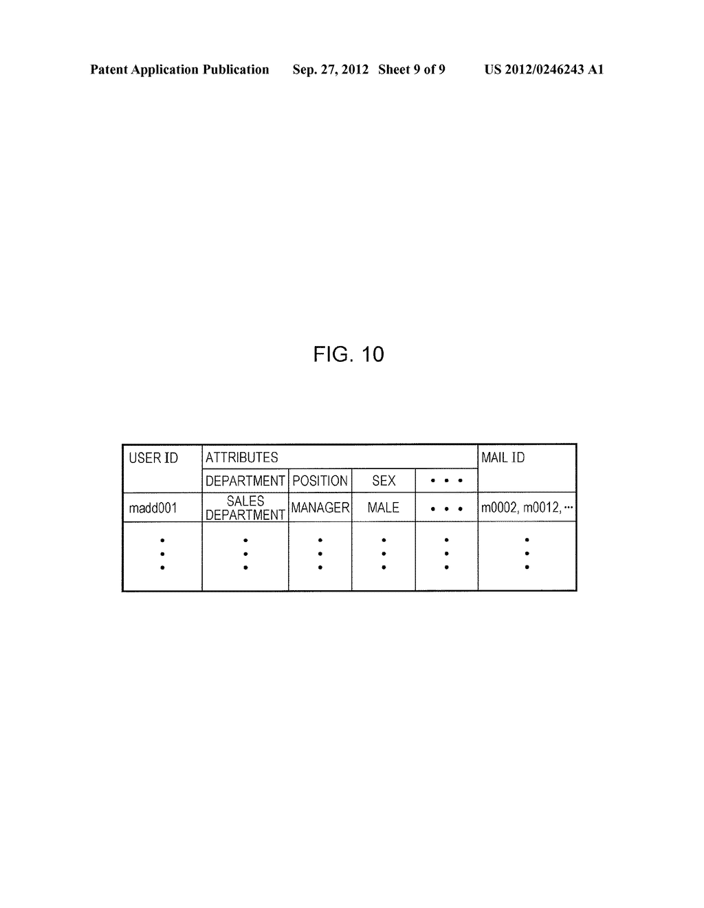 ELECTRONIC MAIL SYSTEM, USER TERMINAL APPARATUS, INFORMATION PROVIDING     APPARATUS, AND COMPUTER READABLE MEDIUM - diagram, schematic, and image 10