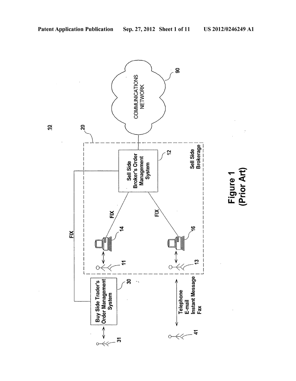 SYSTEM AND METHOD FOR PROCESSING SECURITIES TRADING INSTRUCTIONS AND     COMMUNICATING ORDER STATUS VIA A MESSAGING INTERFACE - diagram, schematic, and image 02