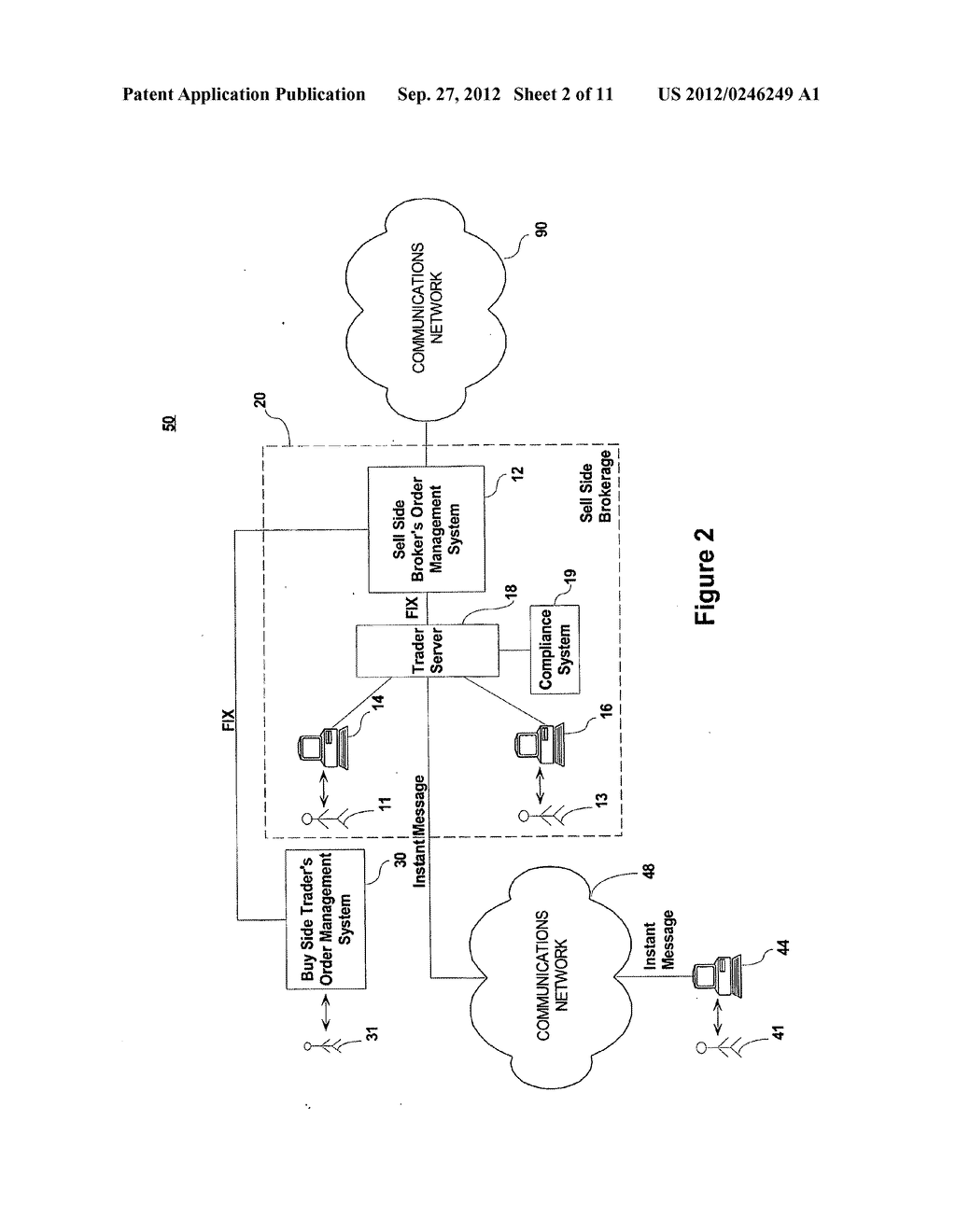 SYSTEM AND METHOD FOR PROCESSING SECURITIES TRADING INSTRUCTIONS AND     COMMUNICATING ORDER STATUS VIA A MESSAGING INTERFACE - diagram, schematic, and image 03