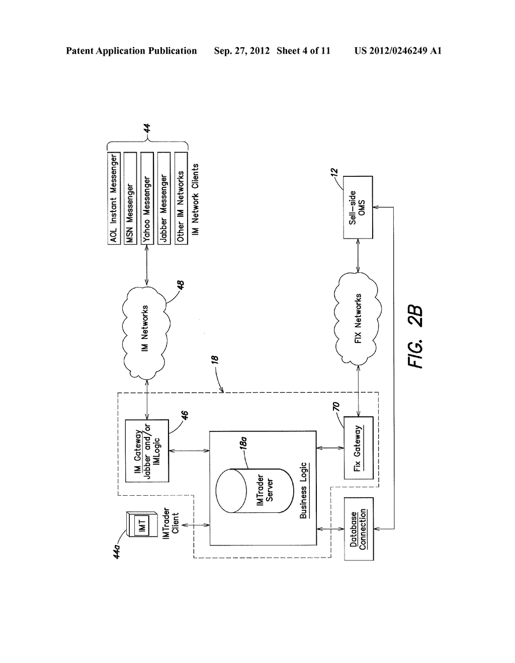 SYSTEM AND METHOD FOR PROCESSING SECURITIES TRADING INSTRUCTIONS AND     COMMUNICATING ORDER STATUS VIA A MESSAGING INTERFACE - diagram, schematic, and image 05