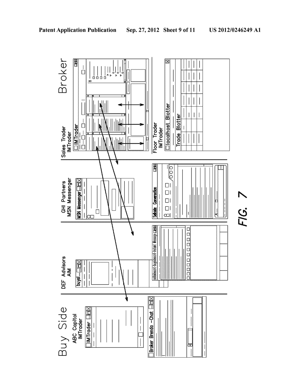 SYSTEM AND METHOD FOR PROCESSING SECURITIES TRADING INSTRUCTIONS AND     COMMUNICATING ORDER STATUS VIA A MESSAGING INTERFACE - diagram, schematic, and image 10