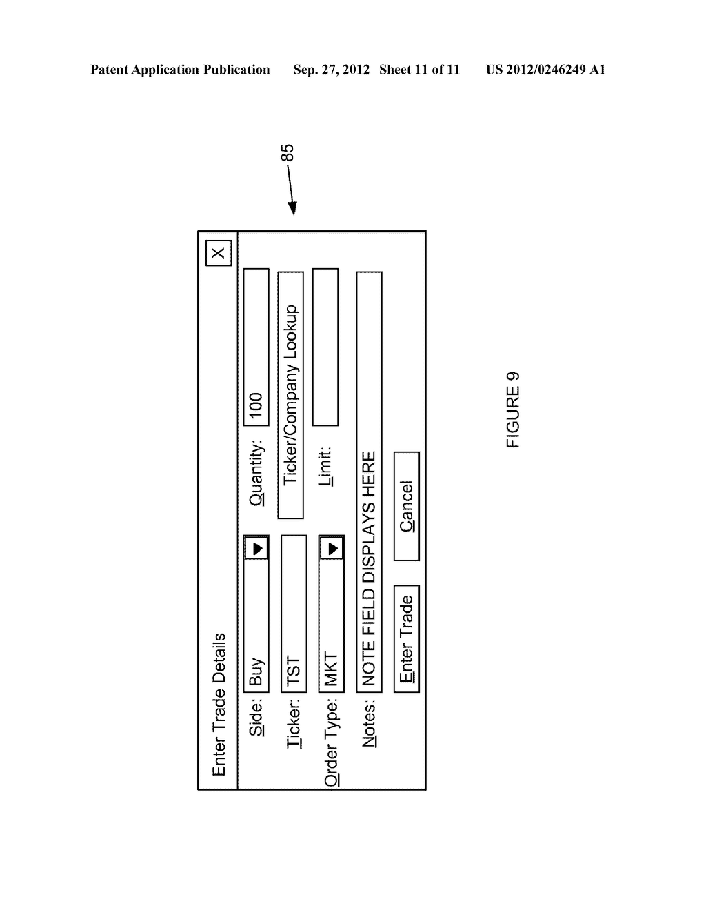 SYSTEM AND METHOD FOR PROCESSING SECURITIES TRADING INSTRUCTIONS AND     COMMUNICATING ORDER STATUS VIA A MESSAGING INTERFACE - diagram, schematic, and image 12