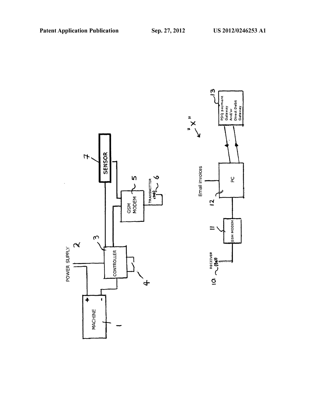 APPARATUS WITH SWITCH GENERATING SMS MESSAGE - diagram, schematic, and image 02