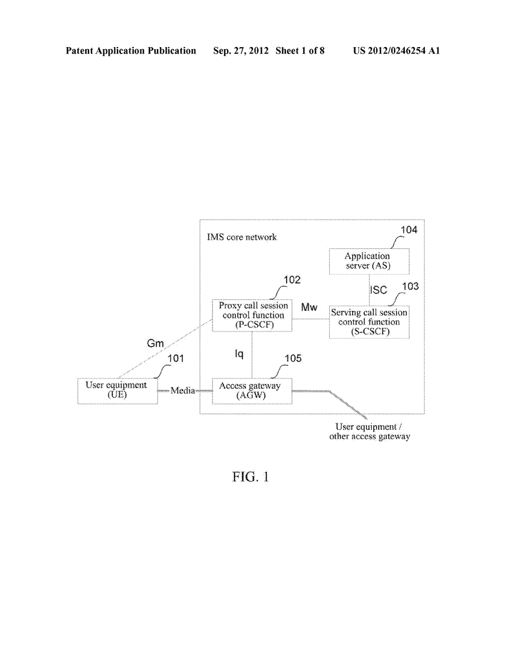 Method and Apparatus for User Equipment Accessing in IP Multimedia     Subsystem - diagram, schematic, and image 02