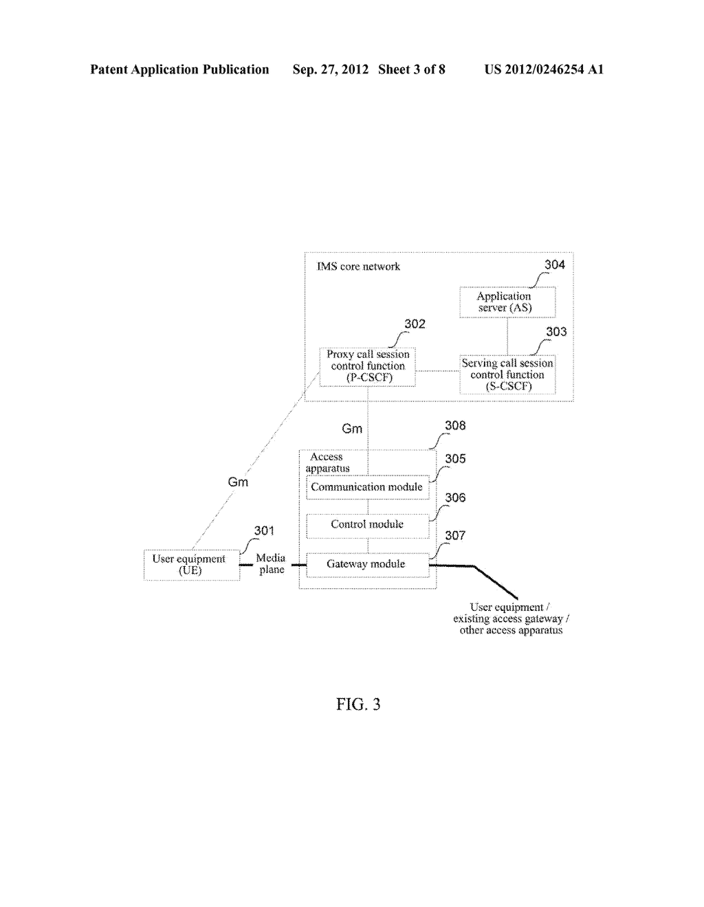 Method and Apparatus for User Equipment Accessing in IP Multimedia     Subsystem - diagram, schematic, and image 04