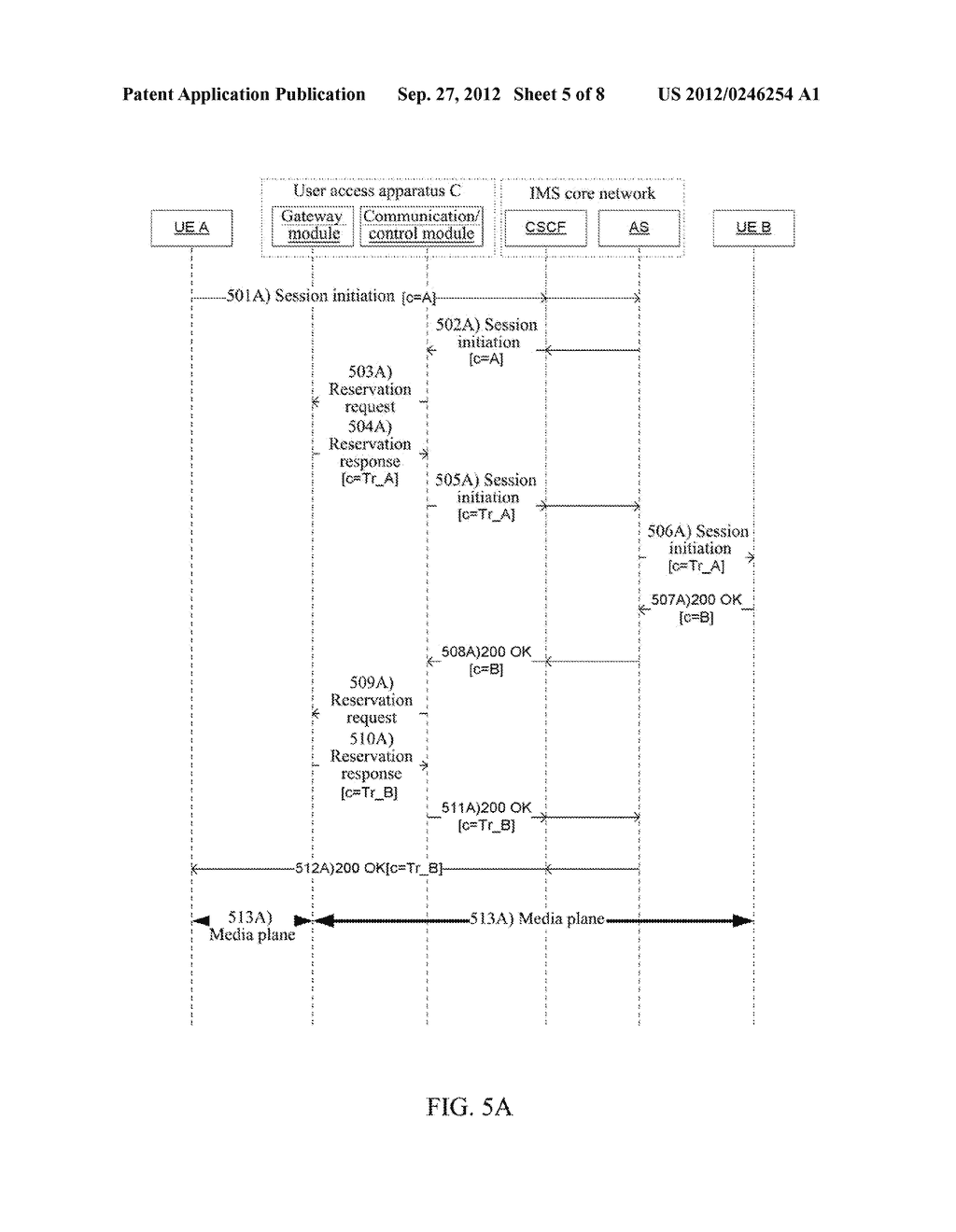 Method and Apparatus for User Equipment Accessing in IP Multimedia     Subsystem - diagram, schematic, and image 06