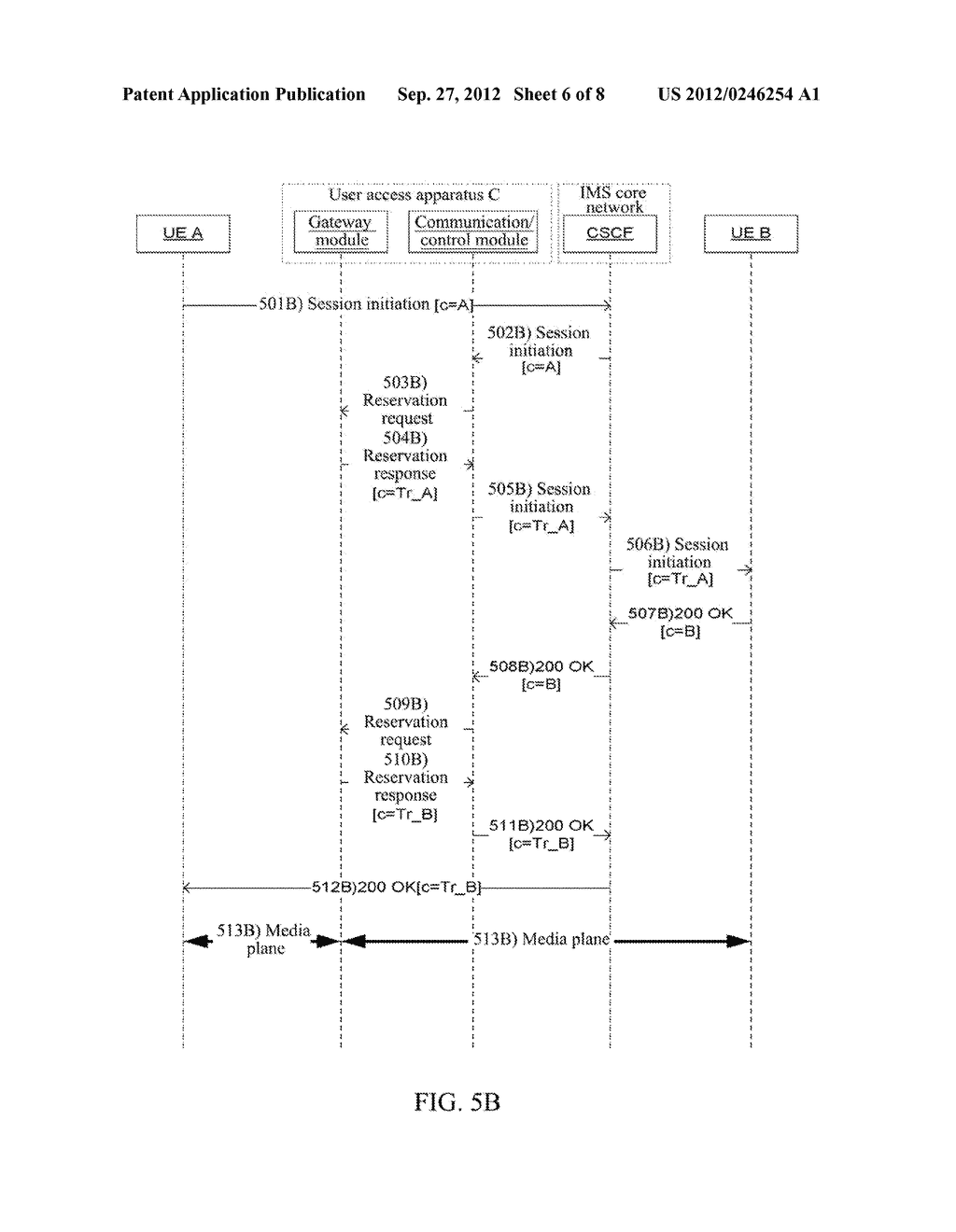 Method and Apparatus for User Equipment Accessing in IP Multimedia     Subsystem - diagram, schematic, and image 07