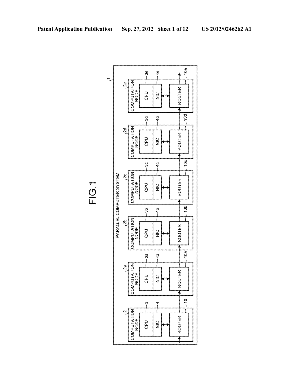 DATA TRANSMITTING DEVICE, PARALLEL COMPUTER SYSTEM, AND CONTROLLING METHOD - diagram, schematic, and image 02