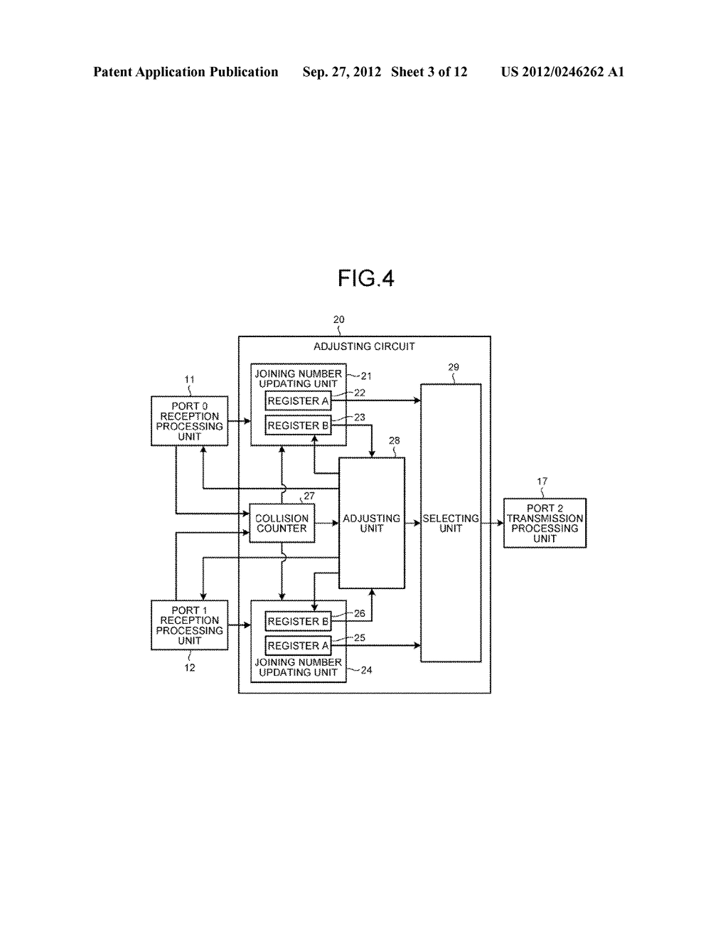 DATA TRANSMITTING DEVICE, PARALLEL COMPUTER SYSTEM, AND CONTROLLING METHOD - diagram, schematic, and image 04