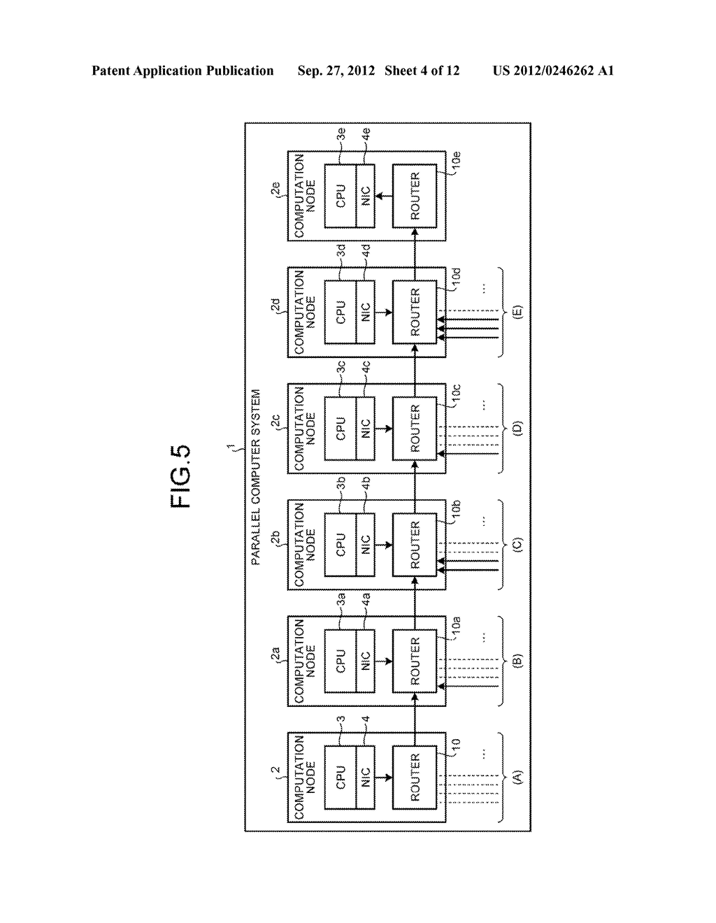 DATA TRANSMITTING DEVICE, PARALLEL COMPUTER SYSTEM, AND CONTROLLING METHOD - diagram, schematic, and image 05