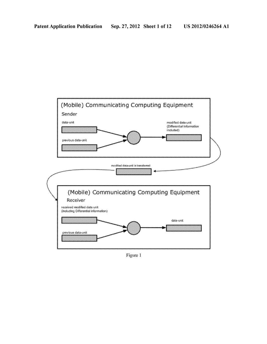 Data Exchange Between Communicating Computing Equipment Using Differential     Information - diagram, schematic, and image 02