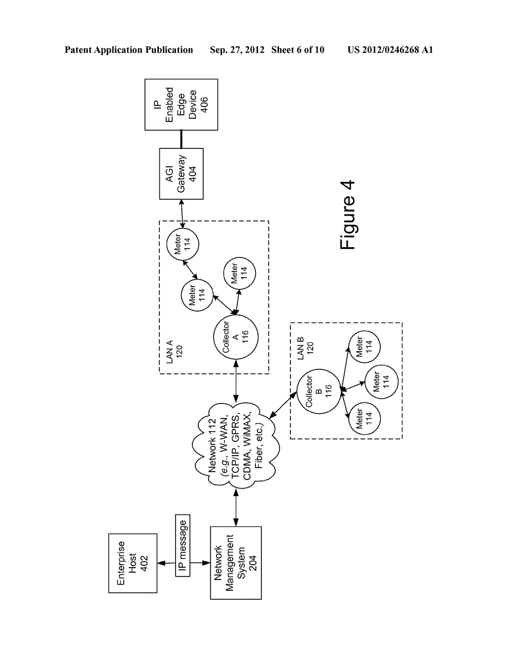 Internet Protocol Message Routing Over A Wireless Network Of Metering     Devices - diagram, schematic, and image 07