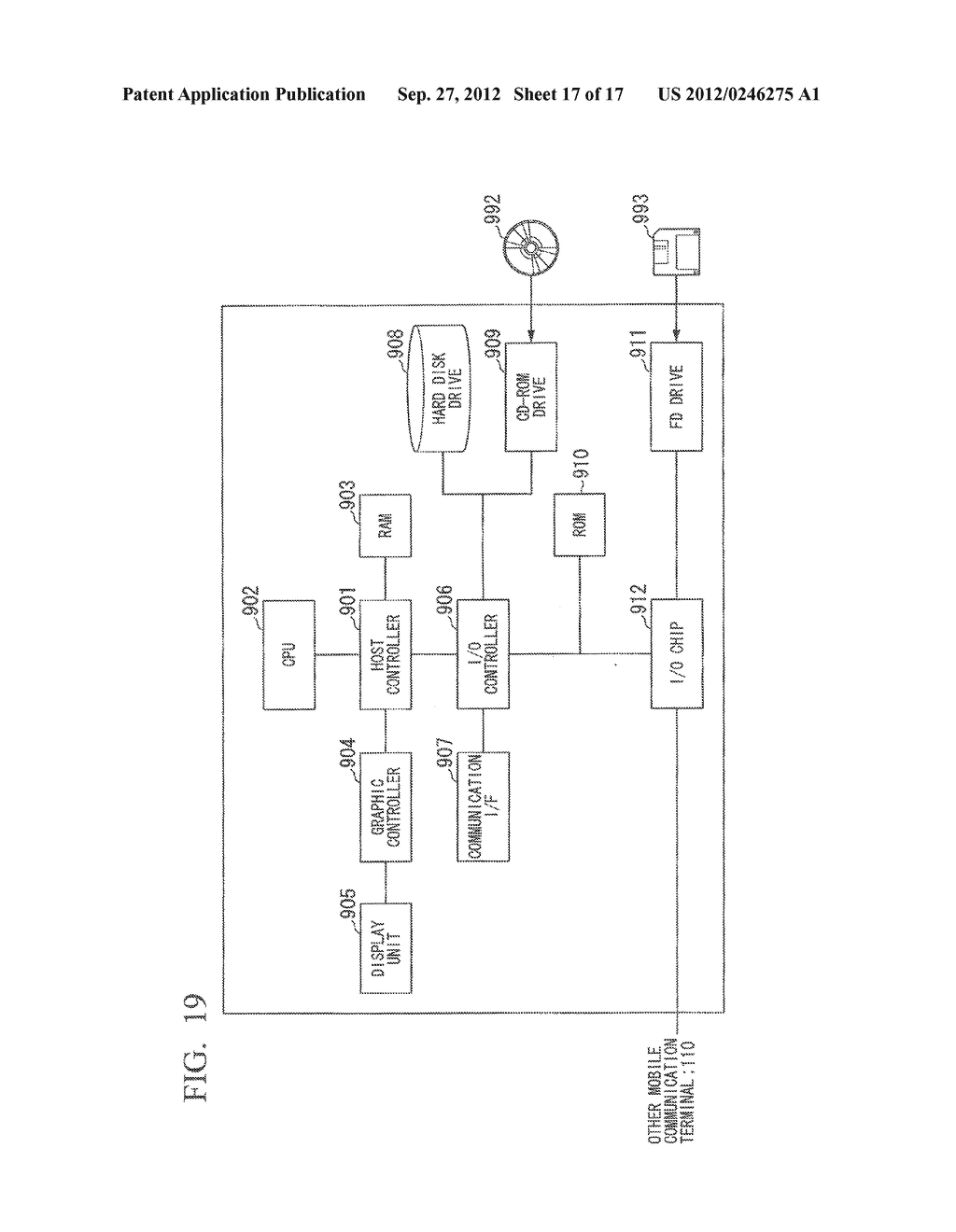 INFORMATION SHARING SYSTEM, COMMUNICATION APPARATUS, CONTROL METHOD AND     COMPUTER PROGRAM - diagram, schematic, and image 18
