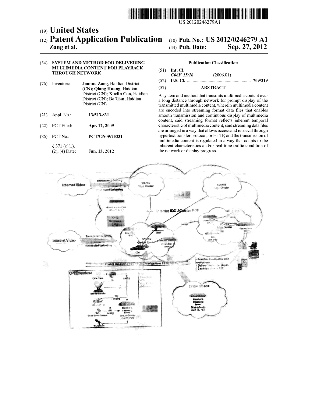SYSTEM AND METHOD FOR DELIVERING MULTIMEDIA CONTENT FOR PLAYBACK THROUGH     NETWORK - diagram, schematic, and image 01