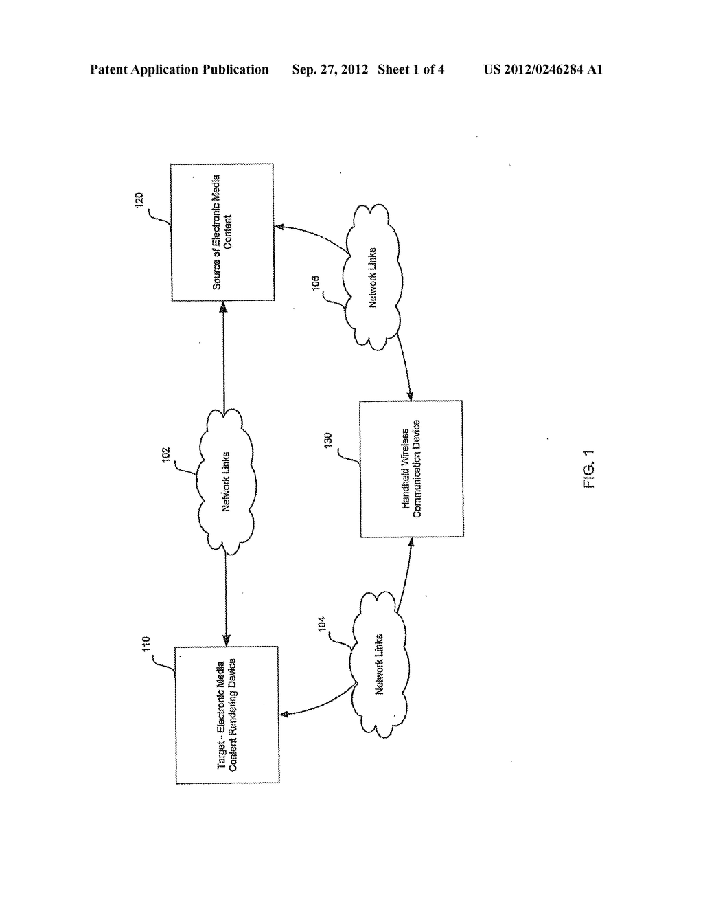 Method and System for Enabling Rendering of Electronic Media Content Via a     Secure Ad Hoc Network Configuration Utilizing a Handheld Wireless     Communication Device - diagram, schematic, and image 02