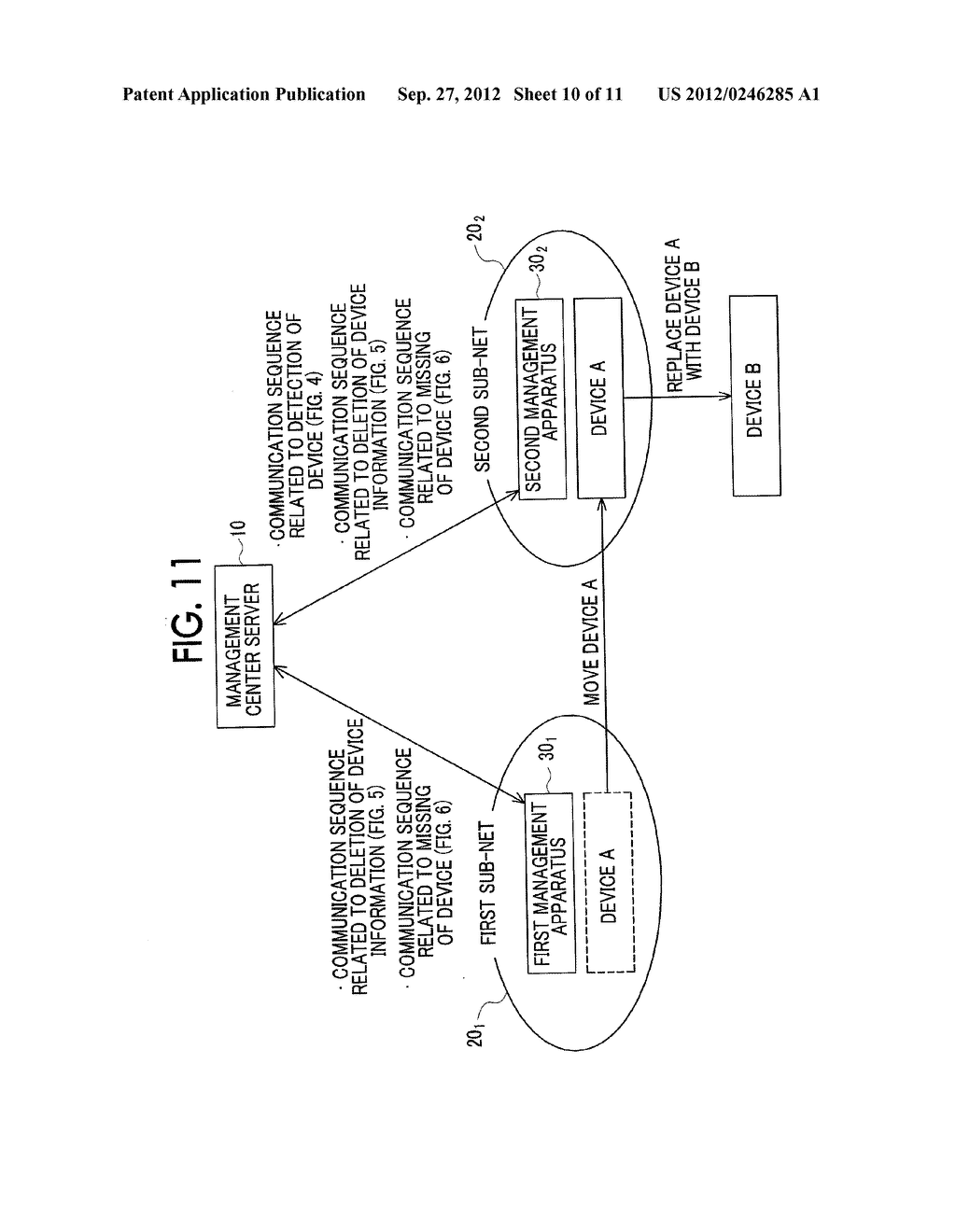 MANAGEMENT SYSTEM, MANAGEMENT APPARATUS, MANAGEMENT METHOD, AND     NON-TRANSITORY COMPUTER READABLE MEDIUM STORING CONTROL PROGRAM - diagram, schematic, and image 11