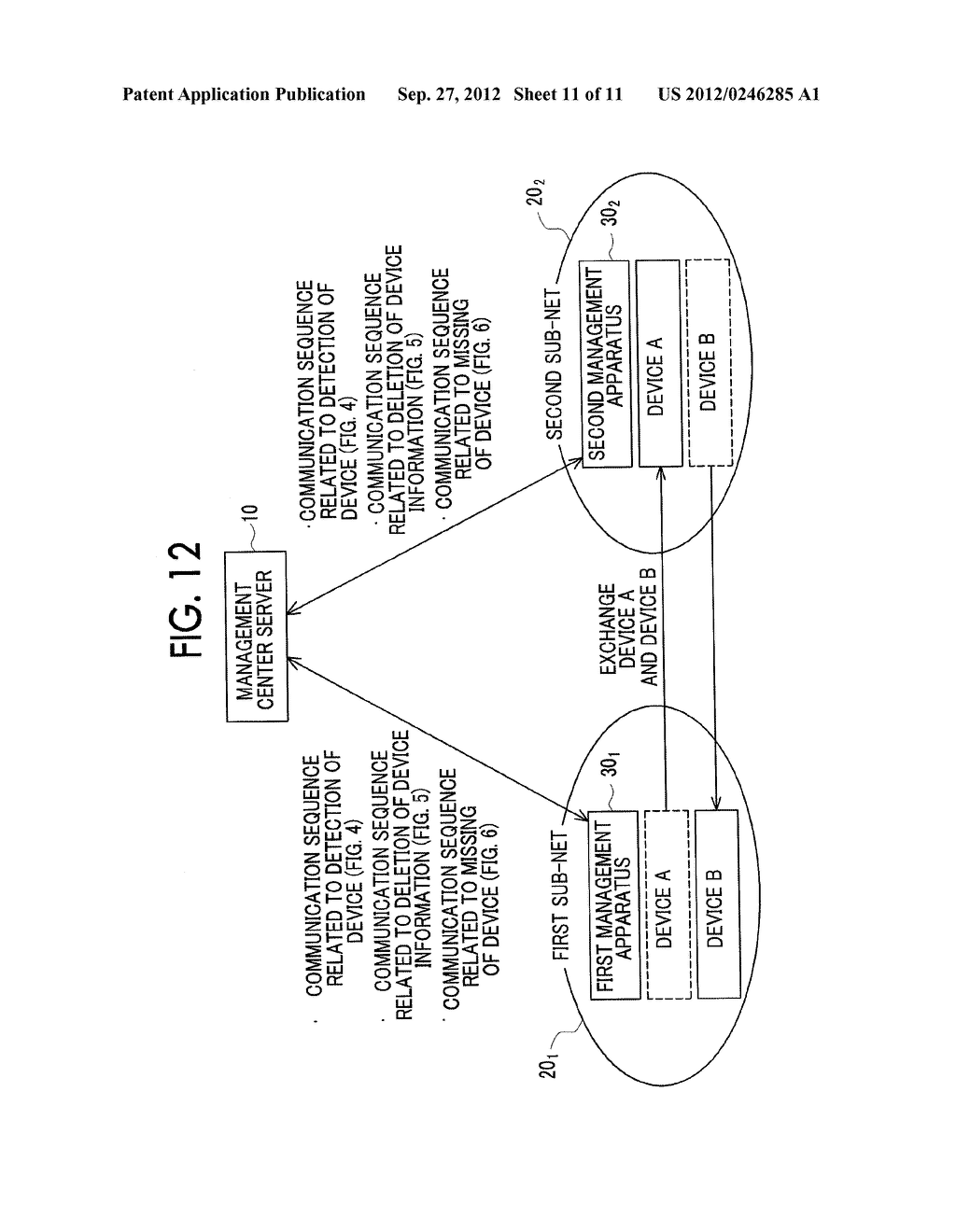 MANAGEMENT SYSTEM, MANAGEMENT APPARATUS, MANAGEMENT METHOD, AND     NON-TRANSITORY COMPUTER READABLE MEDIUM STORING CONTROL PROGRAM - diagram, schematic, and image 12