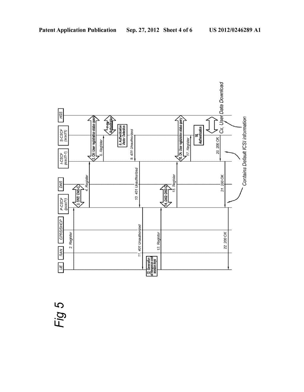 Control Entity and Method for Setting up a Session in a Communications     Network, Subscriber Database and Communications Network - diagram, schematic, and image 05