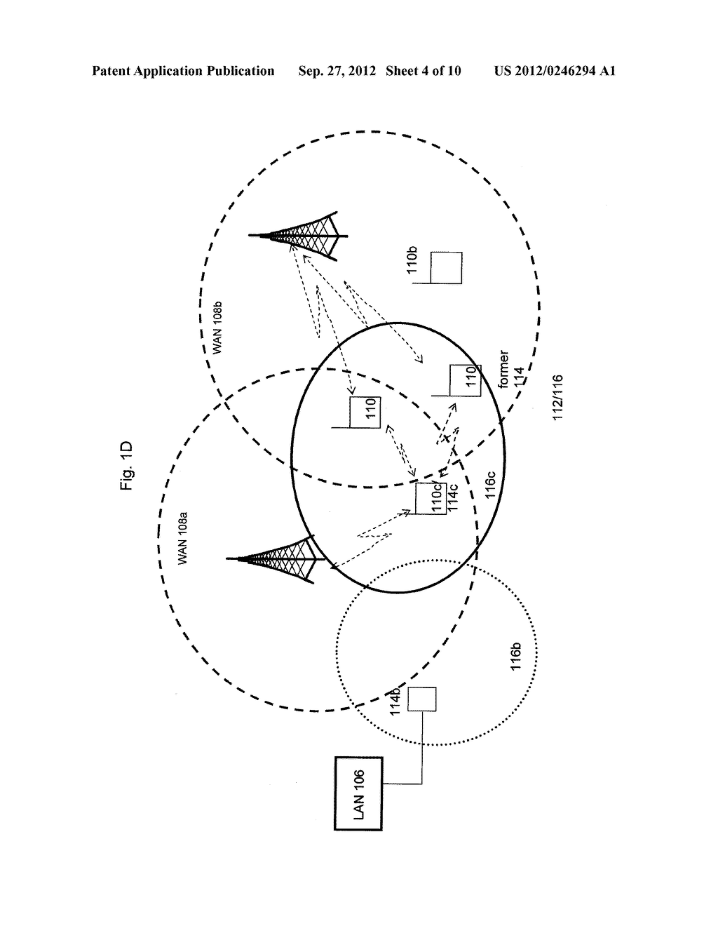 SYSTEM AND METHOD OF SELECTING DEVICES TO COMMUNICATE WITH A NODE IN A     COMMUNICATION NETWORK - diagram, schematic, and image 05