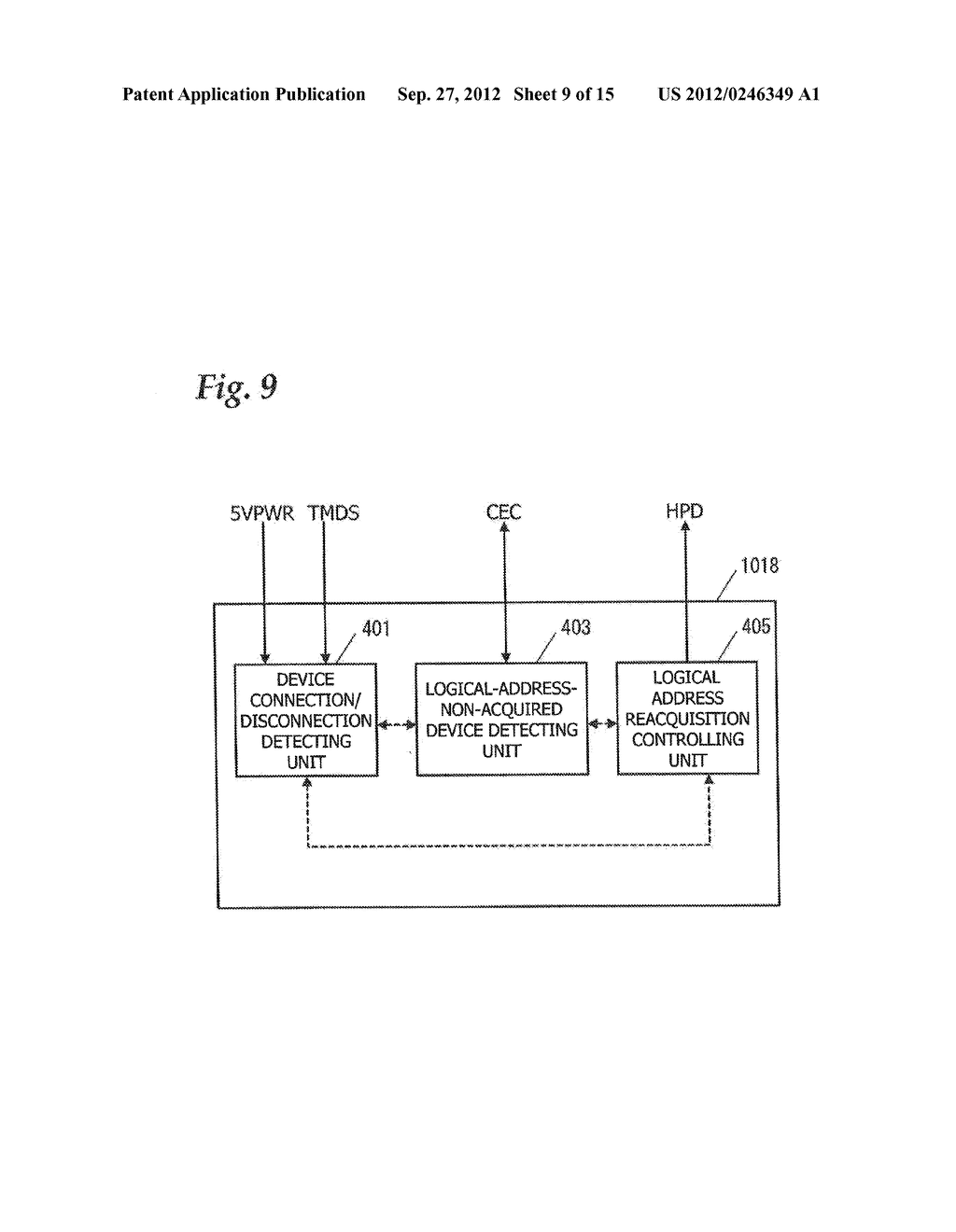 COMMUNICATION CONTROL DEVICE AND COMMUNICATION CONTROL METHOD IN AUDIO     VISUAL DEVICE SYSTEM, AND TELEVISION RECEIVER - diagram, schematic, and image 10