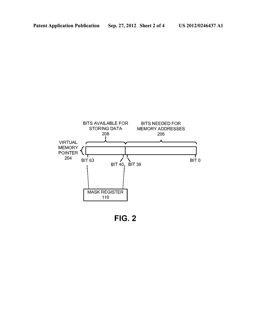METHOD AND APPARATUS FOR USING UNUSED BITS IN A MEMORY POINTER - diagram, schematic, and image 03