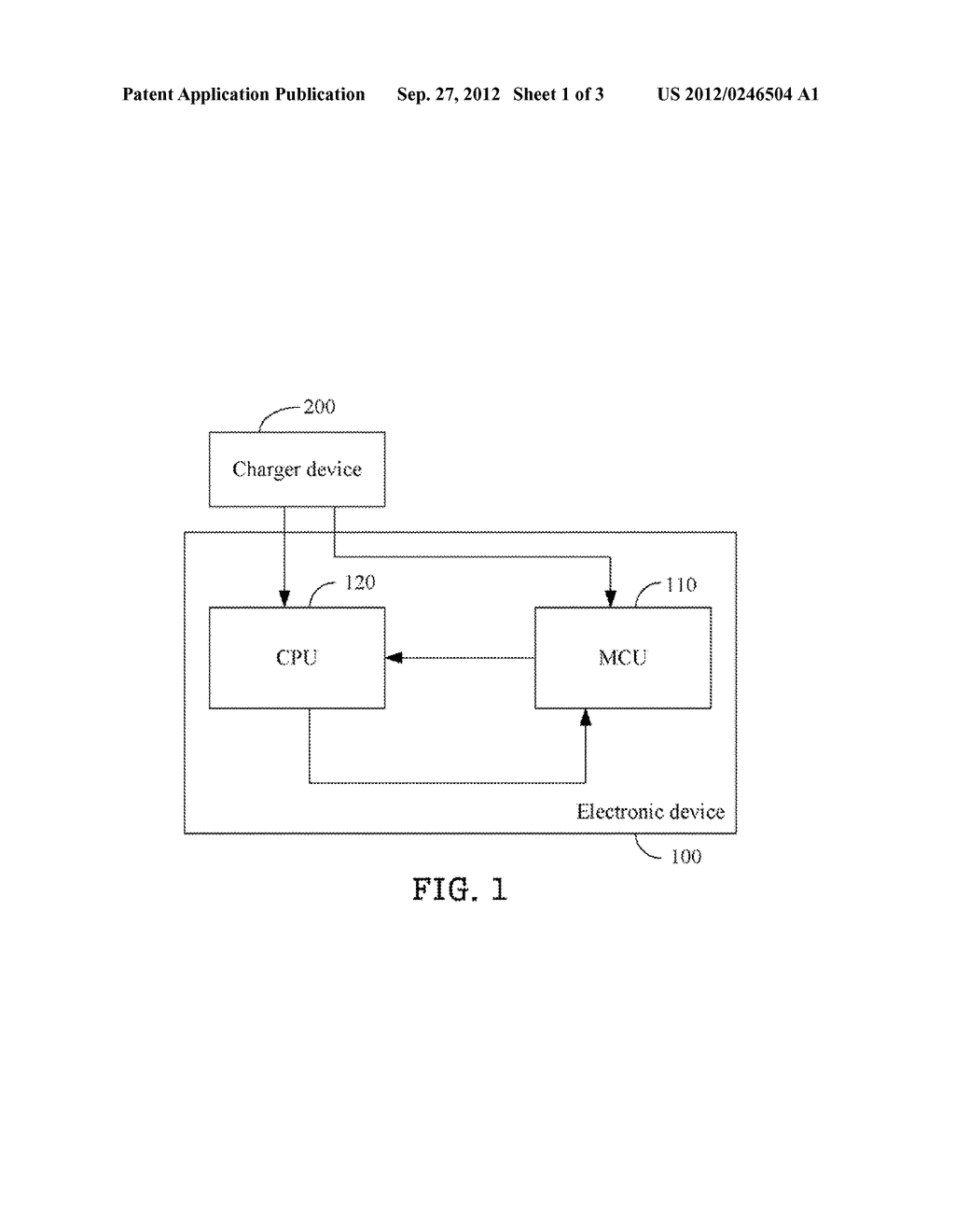 ELECTRONIC DEVICE FOR DETECTING A TYPE OF A CHARGER DEVICE DURING A SLEEP     MODE - diagram, schematic, and image 02