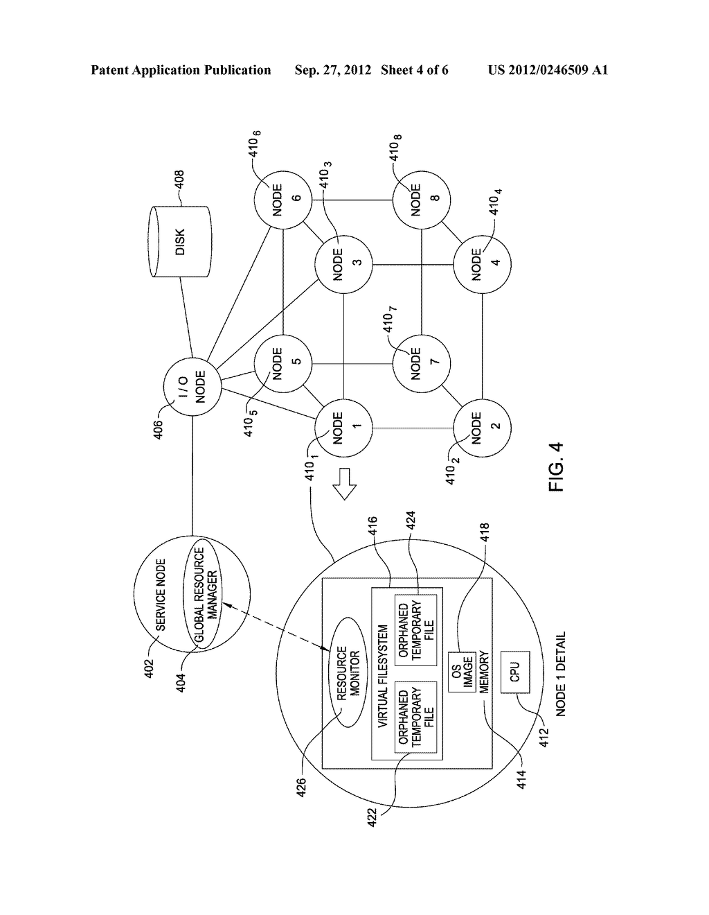 GLOBAL DETECTION OF RESOURCE LEAKS IN A MULTI-NODE COMPUTER SYSTEM - diagram, schematic, and image 05