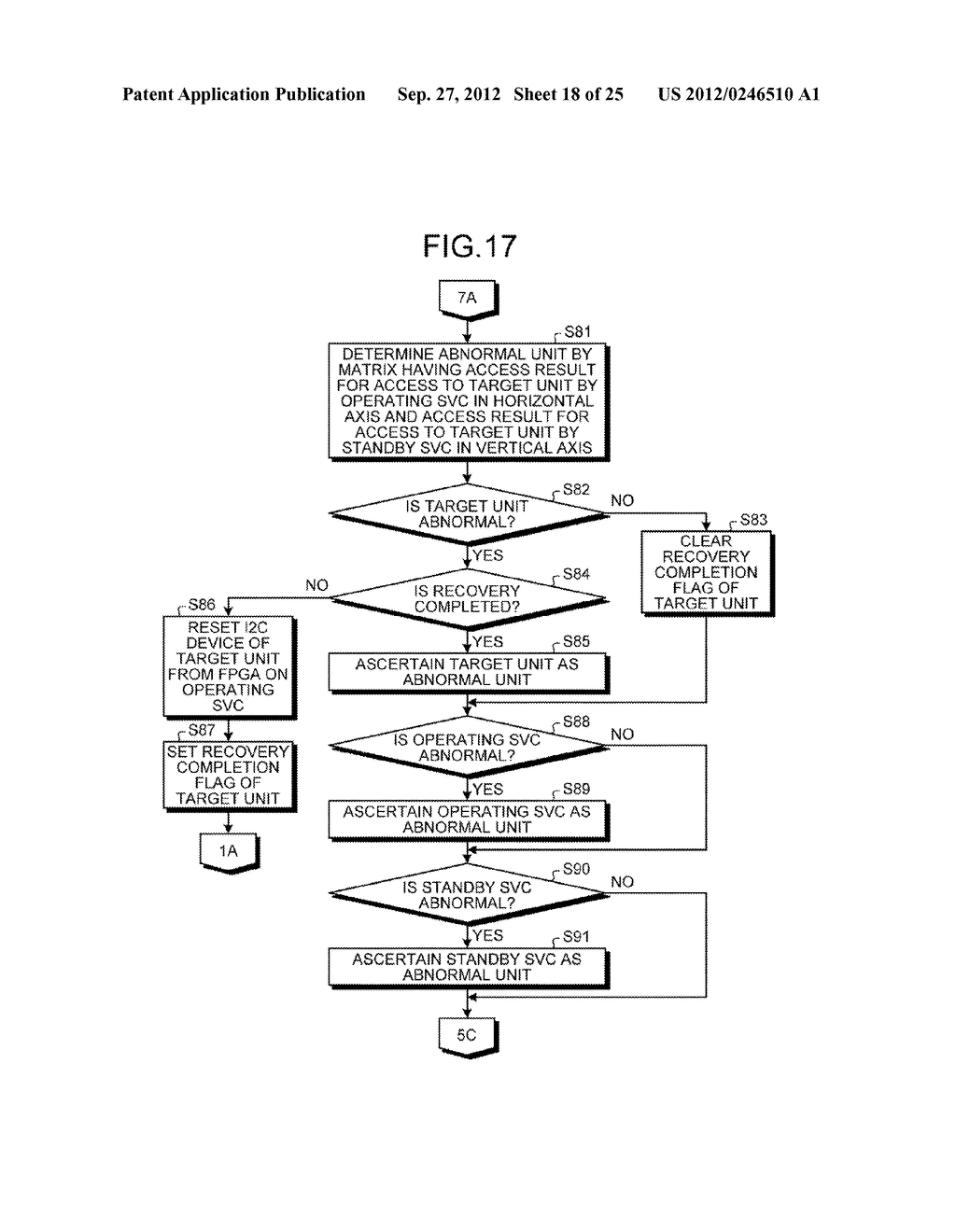 INFORMATION PROCESSING APPARATUS, CONTROL DEVICE, AND ABNORMAL UNIT     DETERMINATION METHOD - diagram, schematic, and image 19