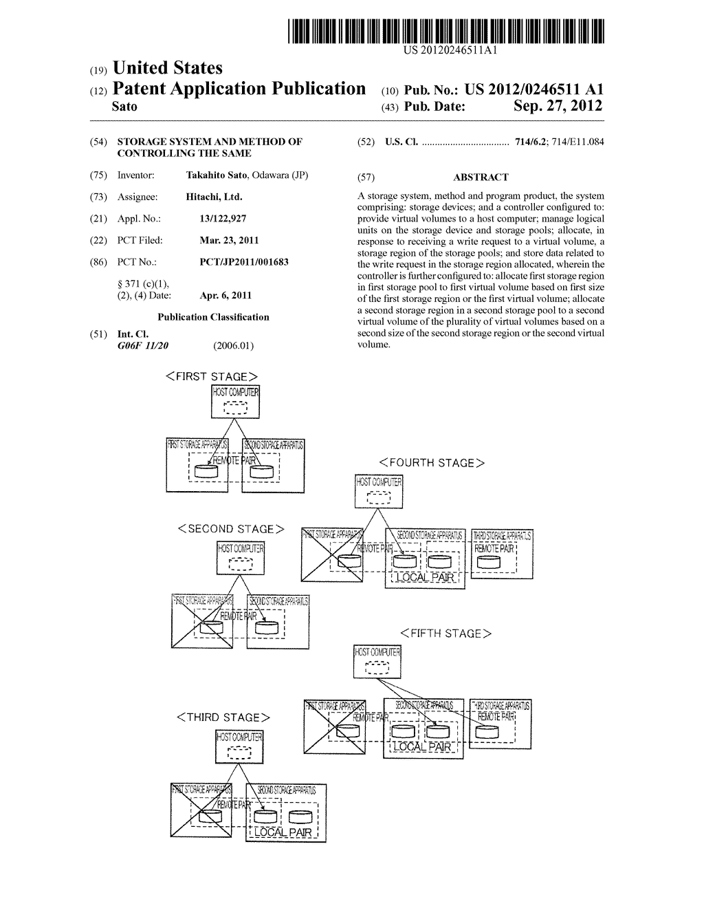 STORAGE SYSTEM AND METHOD OF CONTROLLING THE SAME - diagram, schematic, and image 01