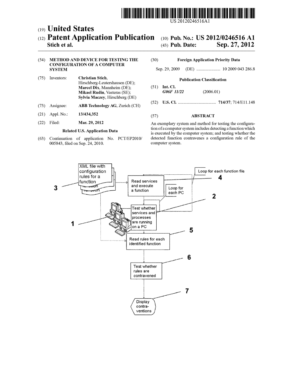 METHOD AND DEVICE FOR TESTING THE CONFIGURATION OF A COMPUTER SYSTEM - diagram, schematic, and image 01