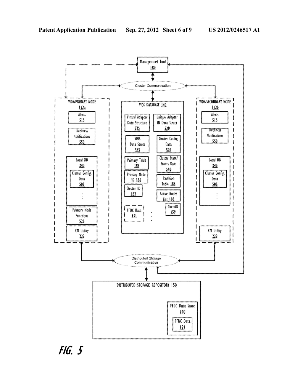 PROVIDING FIRST FIELD DATA CAPTURE IN A VIRTUAL INPUT/OUTPUT SERVER (VIOS)     CLUSTER ENVIRONMENT WITH CLUSTER-AWARE VIOSES - diagram, schematic, and image 07