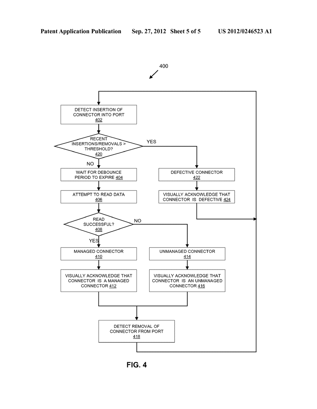 DYNAMICALLY DETECTING A DEFECTIVE CONNECTOR AT A PORT - diagram, schematic, and image 06