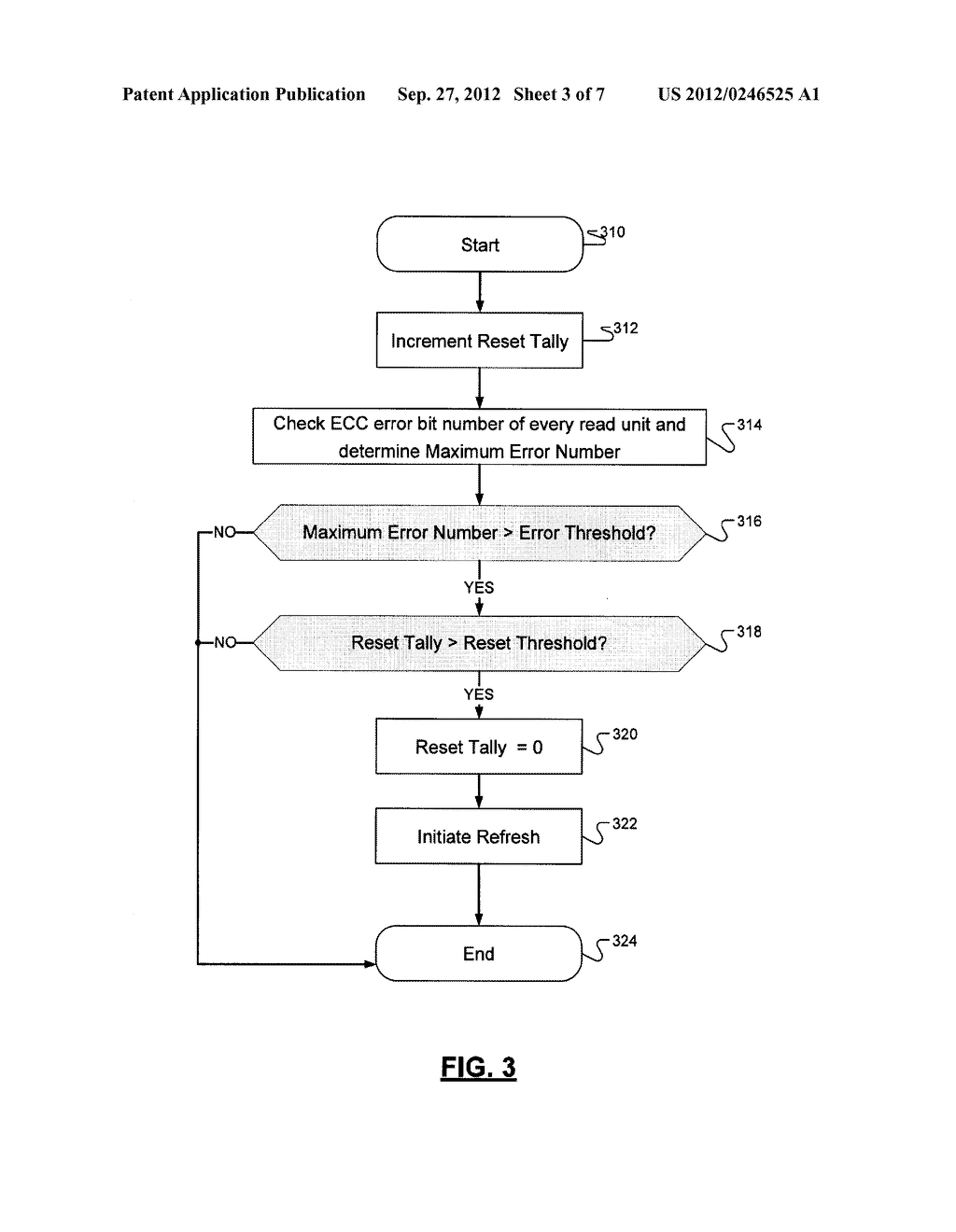 METHOD FOR INITIATING A REFRESH OPERATION IN A SOLID-STATE NONVOLATILE     MEMORY DEVICE - diagram, schematic, and image 04