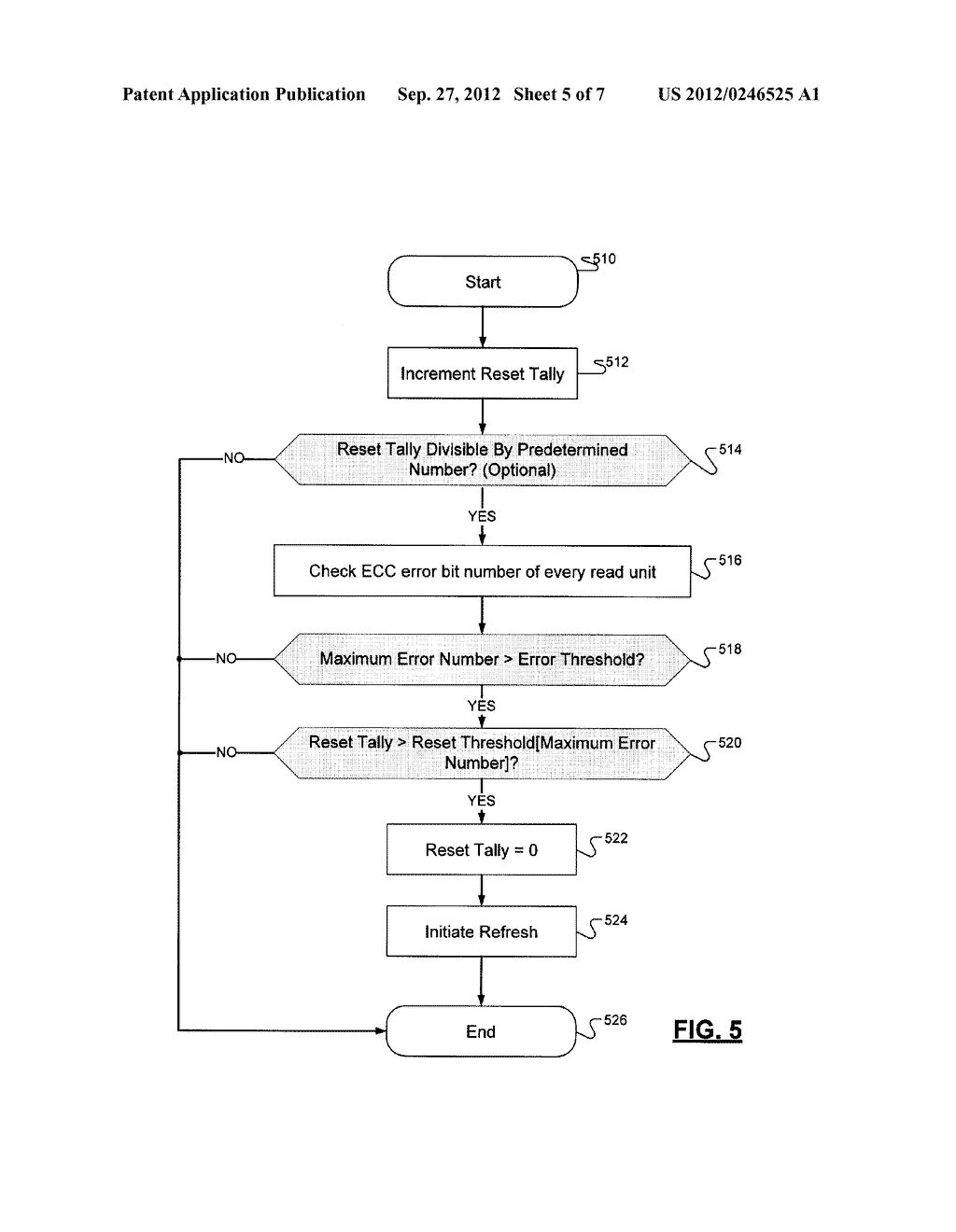 METHOD FOR INITIATING A REFRESH OPERATION IN A SOLID-STATE NONVOLATILE     MEMORY DEVICE - diagram, schematic, and image 06