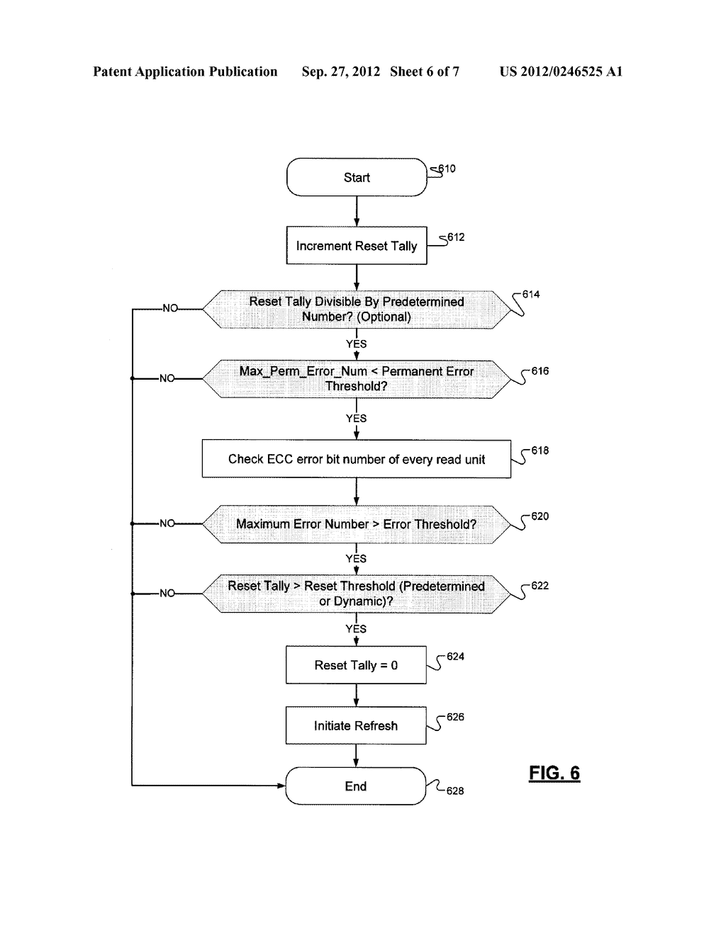METHOD FOR INITIATING A REFRESH OPERATION IN A SOLID-STATE NONVOLATILE     MEMORY DEVICE - diagram, schematic, and image 07