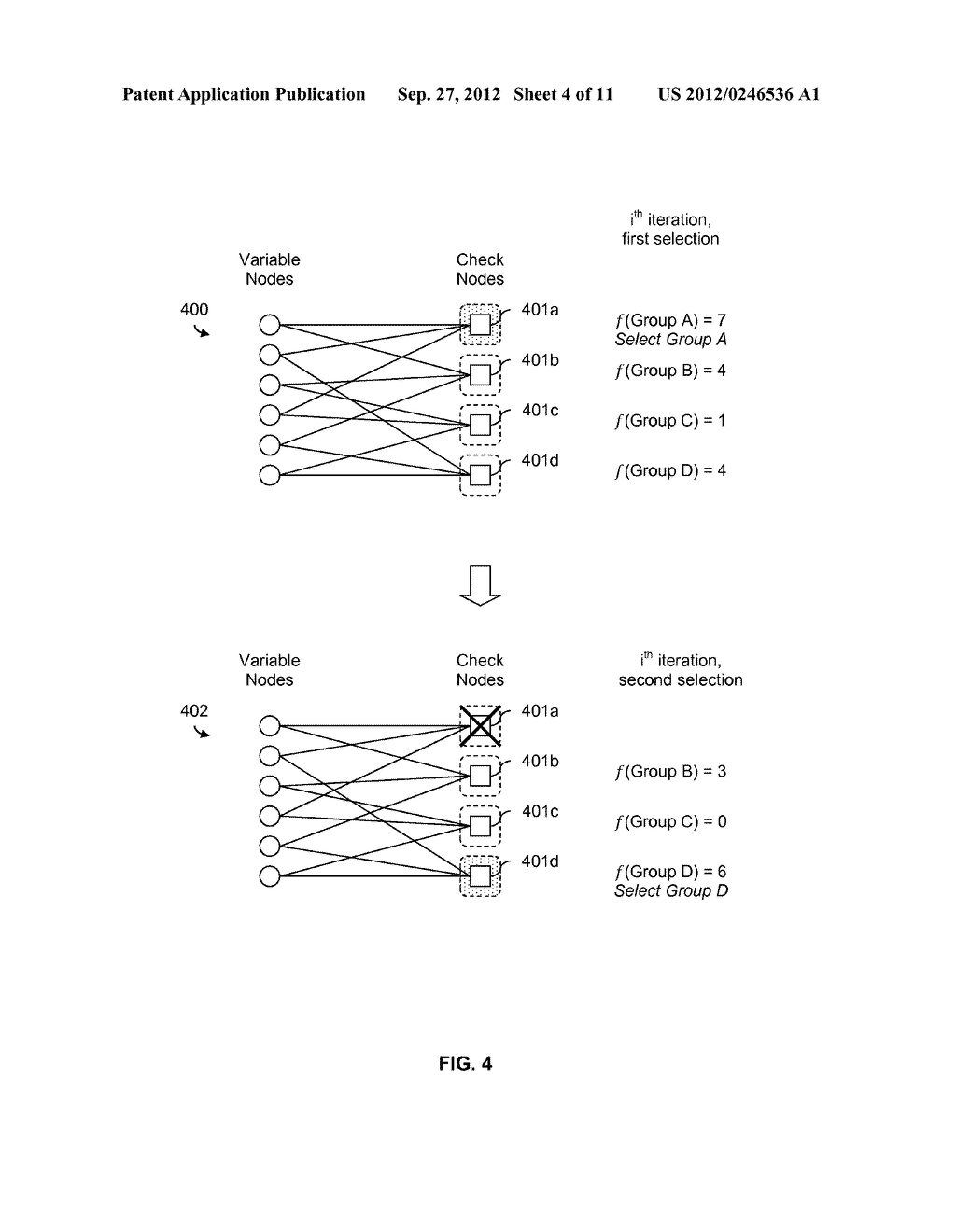 LDPC SELECTIVE DECODING SCHEDULING USING A COST FUNCTION - diagram, schematic, and image 05