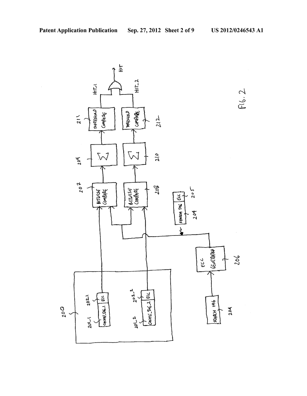APPARATUS AND METHOD FOR FAST TAG HIT - diagram, schematic, and image 03