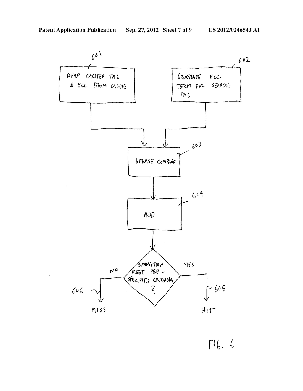 APPARATUS AND METHOD FOR FAST TAG HIT - diagram, schematic, and image 08