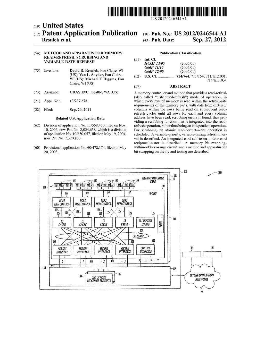 METHOD AND APPARATUS FOR MEMORY READ-REFRESH, SCRUBBING AND VARIABLE-RATE     REFRESH - diagram, schematic, and image 01