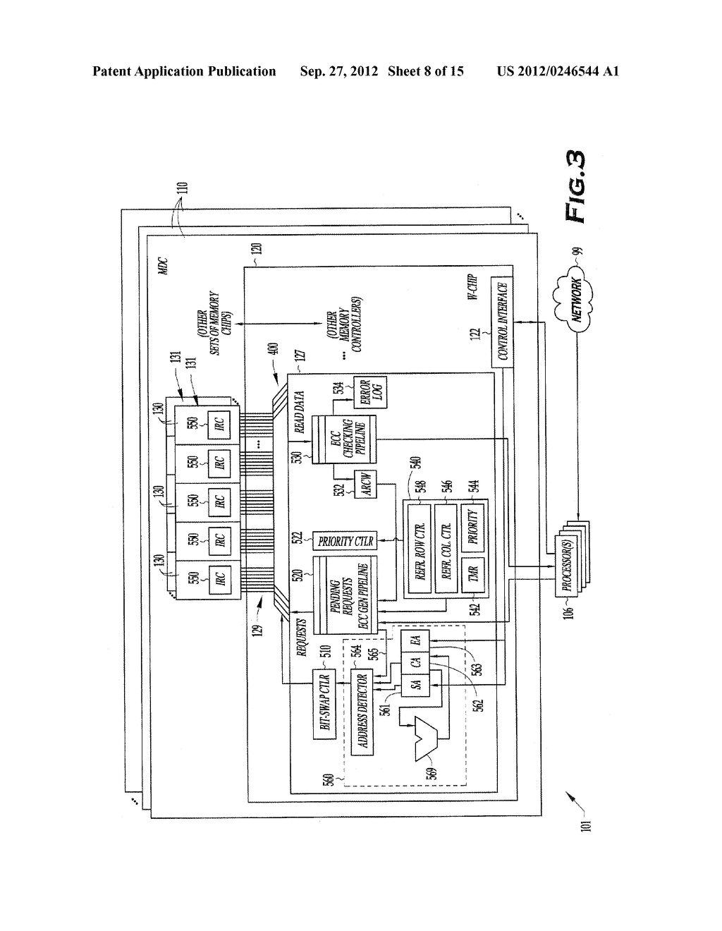 METHOD AND APPARATUS FOR MEMORY READ-REFRESH, SCRUBBING AND VARIABLE-RATE     REFRESH - diagram, schematic, and image 09