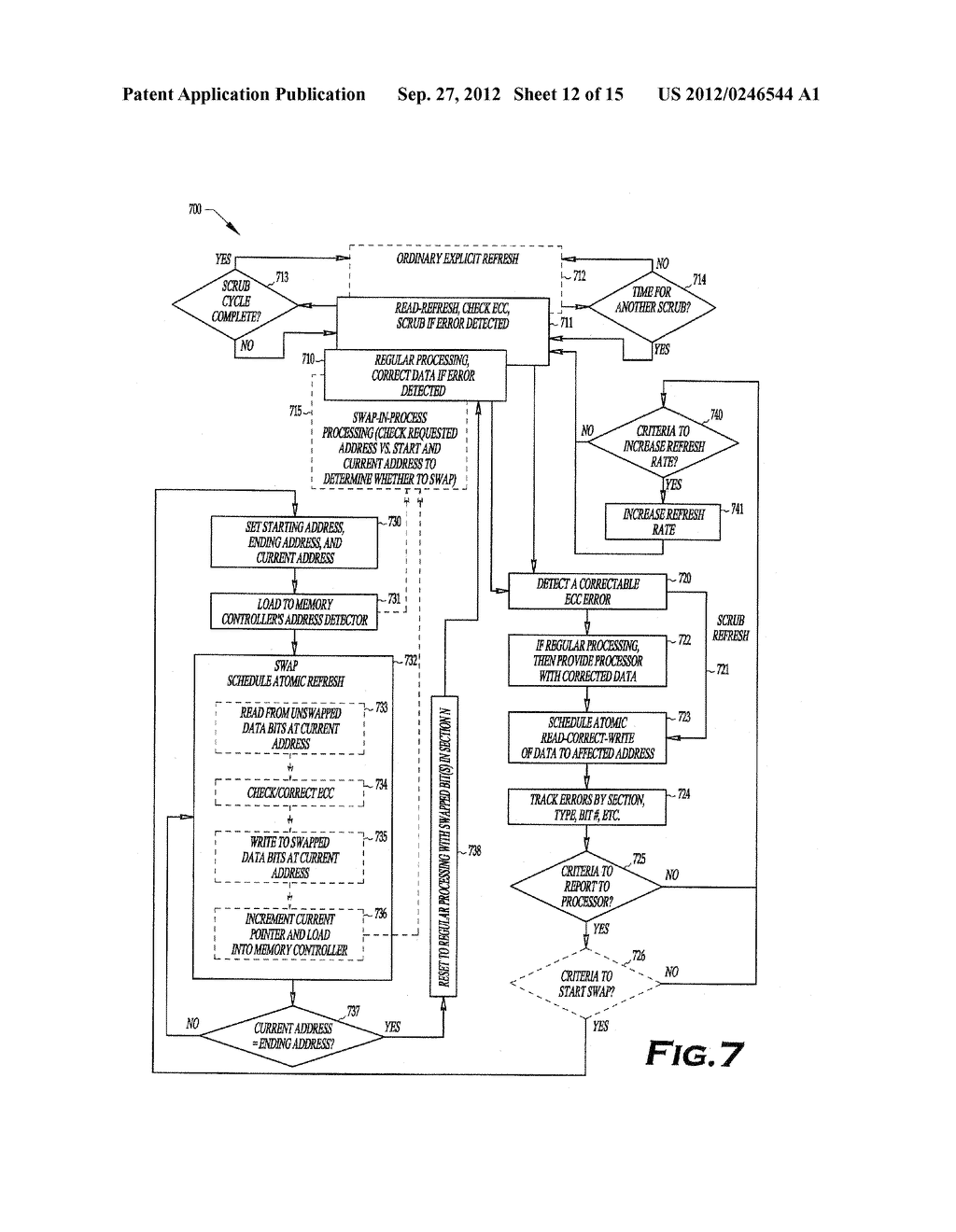 METHOD AND APPARATUS FOR MEMORY READ-REFRESH, SCRUBBING AND VARIABLE-RATE     REFRESH - diagram, schematic, and image 13