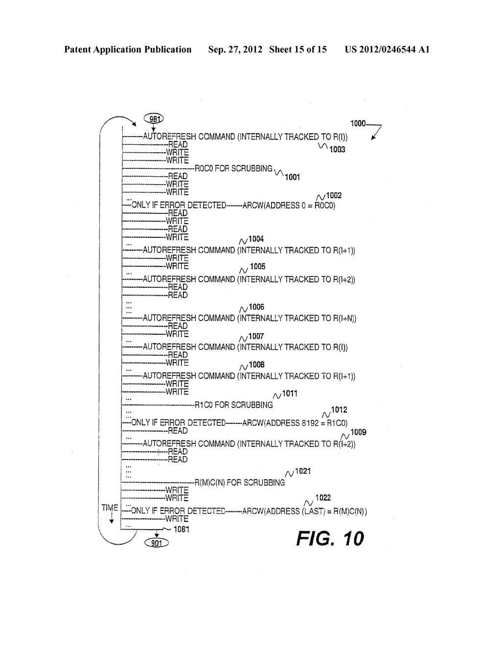 METHOD AND APPARATUS FOR MEMORY READ-REFRESH, SCRUBBING AND VARIABLE-RATE     REFRESH - diagram, schematic, and image 16