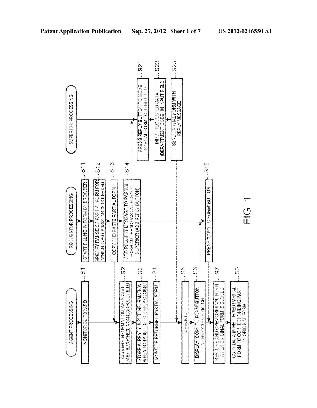 METHOD OF INPUTTING INFORMATION INTO AN ELECTRONIC FORM - diagram, schematic, and image 02