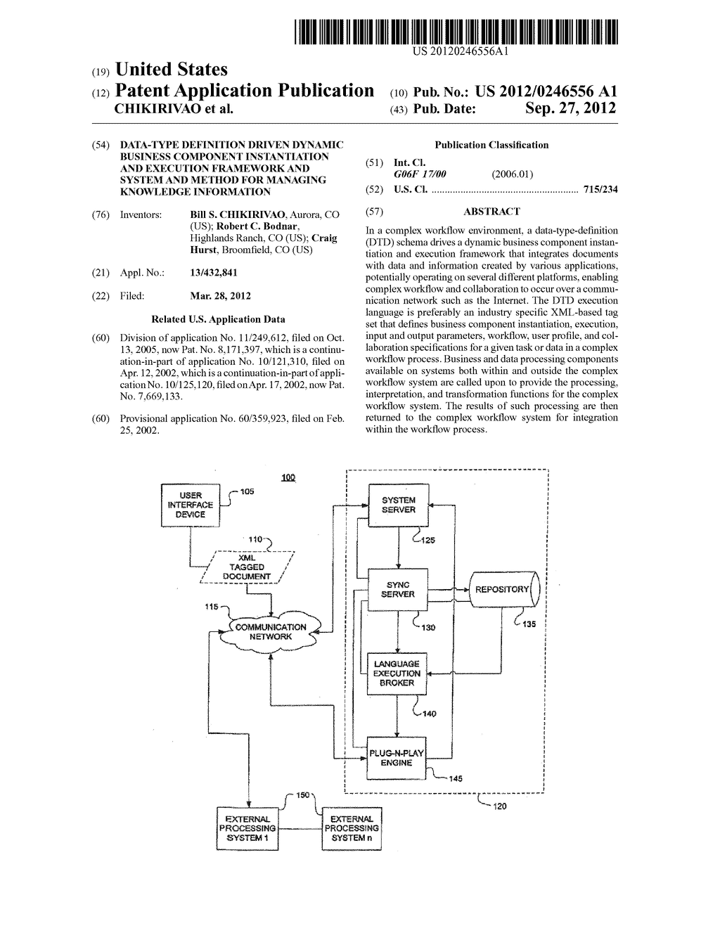 DATA-TYPE DEFINITION DRIVEN DYNAMIC BUSINESS COMPONENT INSTANTIATION AND     EXECUTION FRAMEWORK AND SYSTEM AND METHOD FOR MANAGING KNOWLEDGE     INFORMATION - diagram, schematic, and image 01