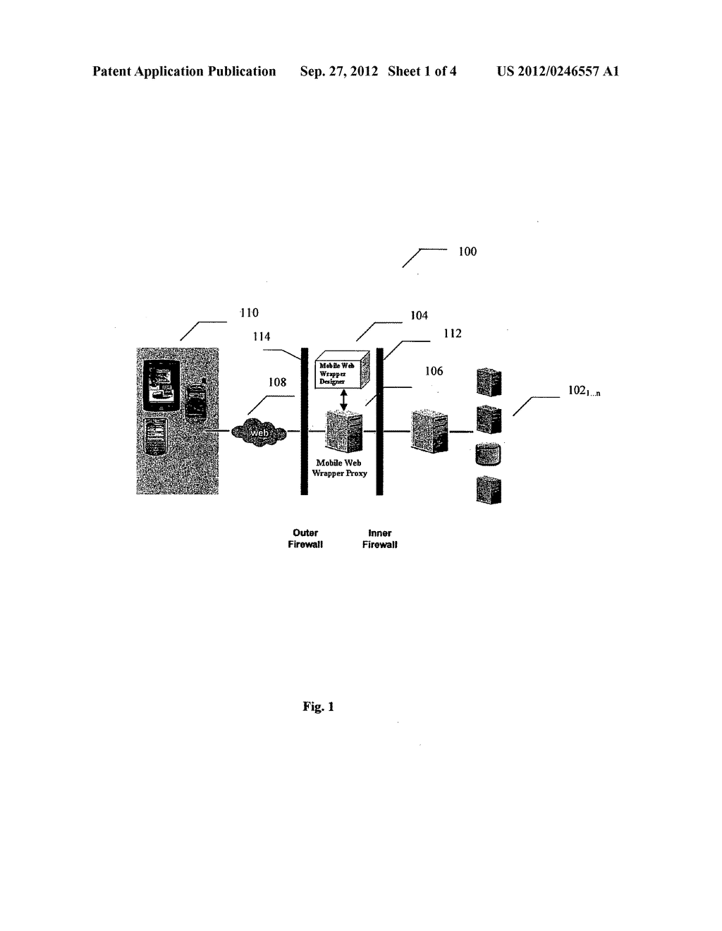 SYSTEM AND METHOD FOR TRANSCODING WEB CONTENT ADAPTABLE TO MULTIPLE CLIENT     DEVICES - diagram, schematic, and image 02