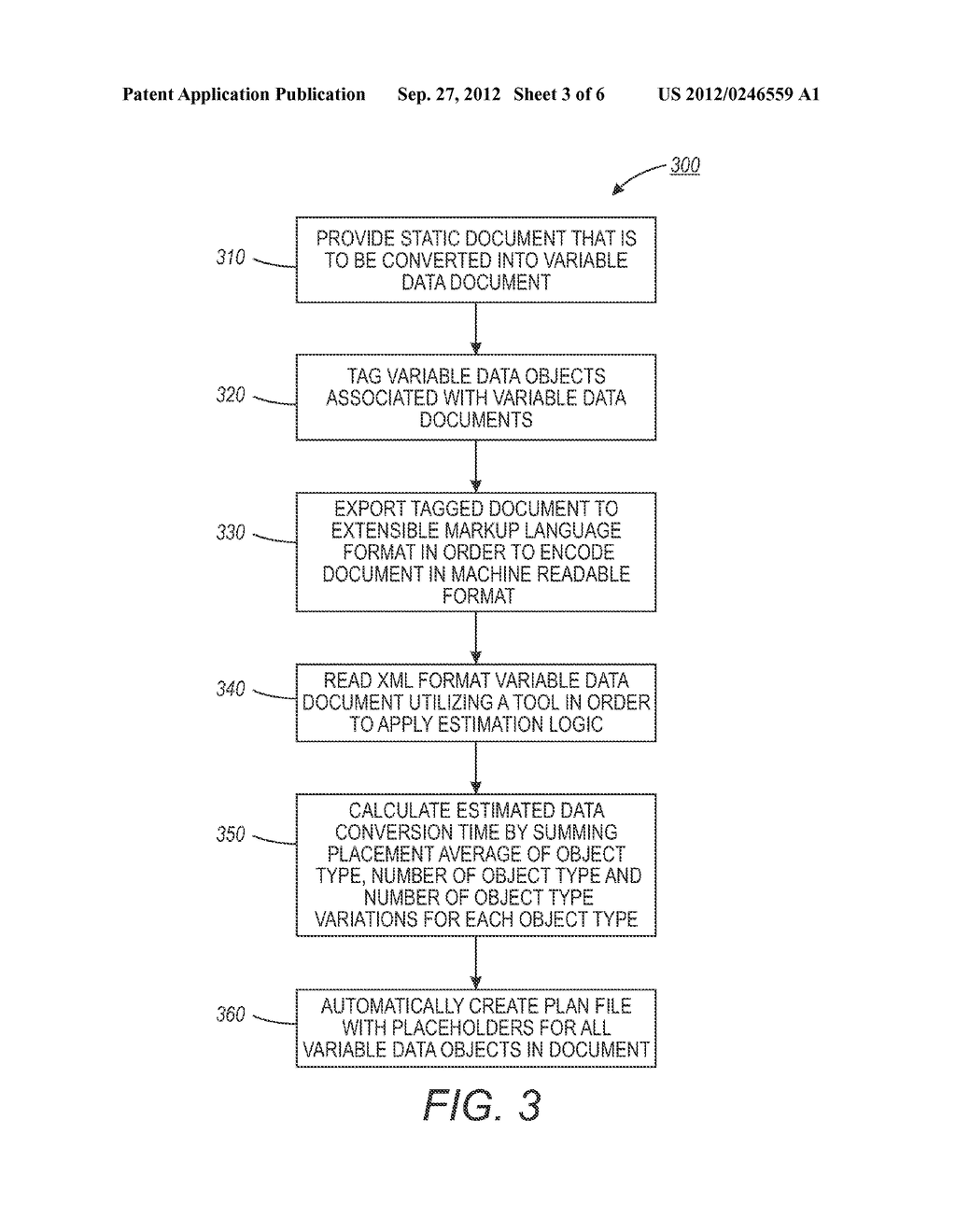 METHOD AND SYSTEM FOR ESTIMATING VARIABLE DATA DOCUMENT CONVERSION TIME - diagram, schematic, and image 04