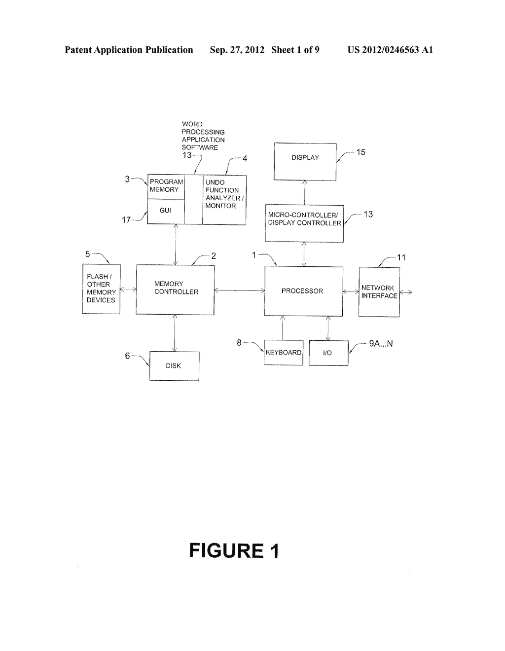 WORD PROCESSING SYSTEM AND METHOD WITH AUTOMATIC UNDO OPERATION MONITORING     AND ANALYSIS - diagram, schematic, and image 02
