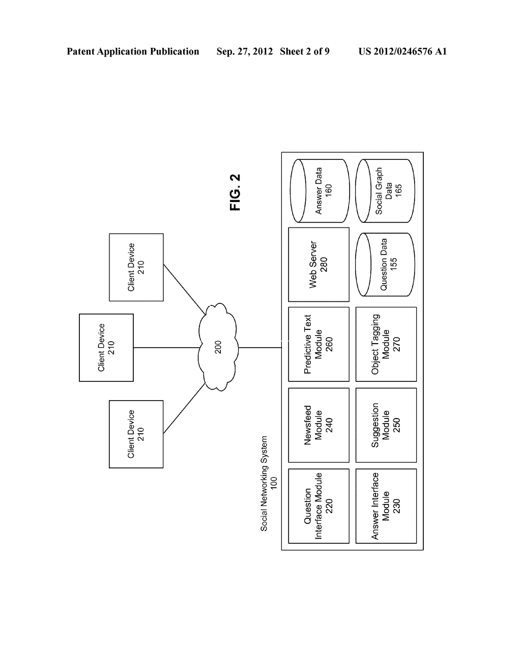 PRESENTING QUESTION AND ANSWER DATA IN A SOCIAL NETWORKING SYSTEM - diagram, schematic, and image 03